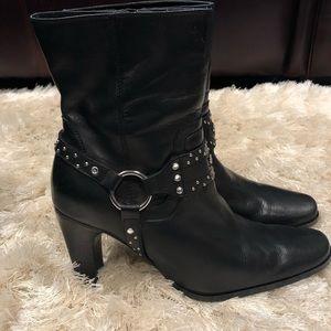 Harley-Davidson studded boots